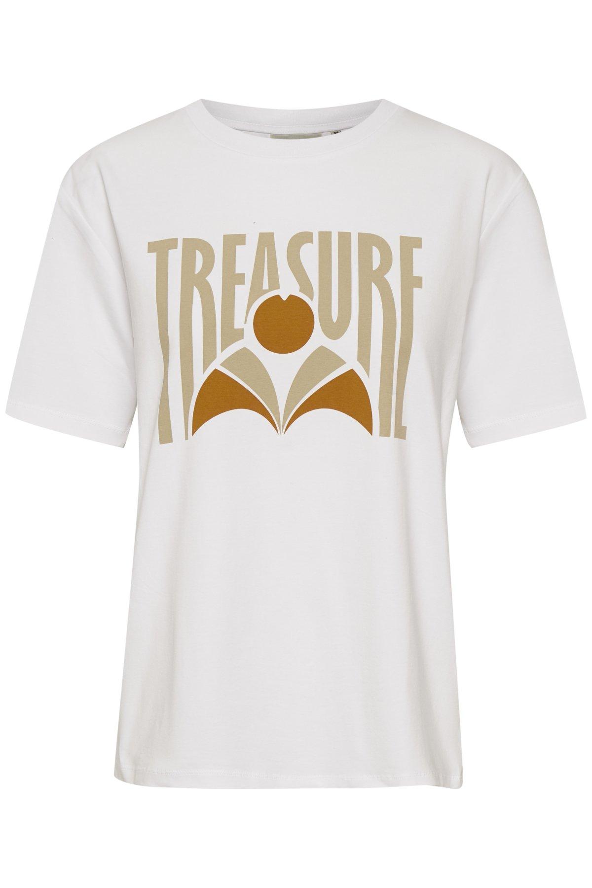 white Elexa  Gestuz  T-Skjorter - Dameklær er billig